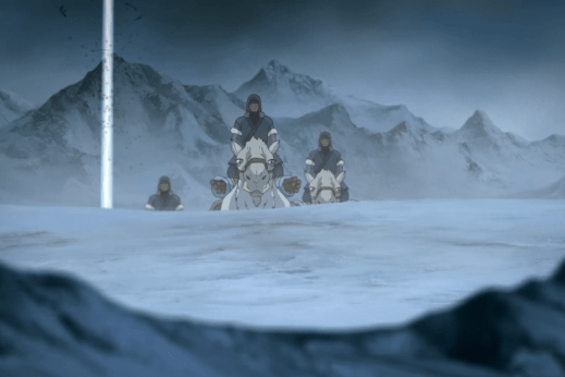 As Korra loses consciousness during the attempted siege of the spirit portal, Northern Water Tribe troops approach her in TAUN TAUNS!