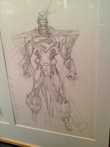 Denys Cowan's original sketches for Steel.