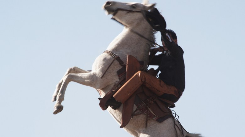 wes on horse up high
