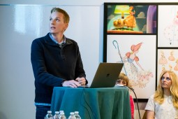 Directing Animator Becki Tower during the Toy Story 4 Long Lead Press Day as seen on April 3, 2019 at Pixar Animation Studios in Emeryville, Calif. Photo by Marc Flores. ©2019 Disney/Pixar. All Rights Reserved.
