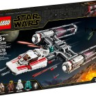 """LEGO® Star Wars™ 75249 – Resistance Y-Wing Starfighter™ - $69.99 Collect an updated LEGO® Star Wars™ Y-Wing! Load up for a bombing run with the Resistance Y-Wing Starfighter from Star Wars: The Rise of Skywalker! Fly in under the radar and pull the trigger to help Zorii Bliss release the bombs. Send the First Order Snowtrooper scrambling for cover and then rescue Poe Dameron, D-O and the Astromech Droid. With this Y-wing, LEGO® Star Wars™ action is never far away! Includes 5 LEGO® Star Wars™ characters: Poe Dameron, Zorii Bliss and First Order Snowtrooper minifigures, and D-O and astromech droid LEGO figures. Star Wars™ Resistance Y-Wing Starfighter, a.k.a. wishbone, features an opening minifigure cockpit, folding landing gear, 2 spring-loaded shooters and top-loaded bombs with trigger-activated release. Weapons include Poe's blaster pistol, Zorii's 2 blaster pistols and the First Order Snowtrooper's blaster. The Y-Wing's color scheme and Zorii's molded helmet are new for October 2019. Recreate exciting moments from the Star Wars: The Rise of Skywalker movie. This starship makes a great birthday gift, Christmas present or just a fun Star Wars™ gift for any occasion. Star Wars™ building set measures over 2"""" (7cm) high, 16"""" (43cm) long and 7"""" (19cm) wide. Available October 4"""