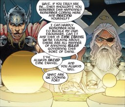 Thor really doesn't like time travel.