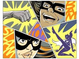 Classic '66 Batman splashes :)
