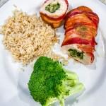 Bacon Pesto Chicken Roulettes (Rolls)