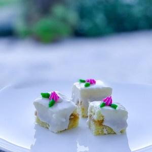 Caramel Cake Petit Fours