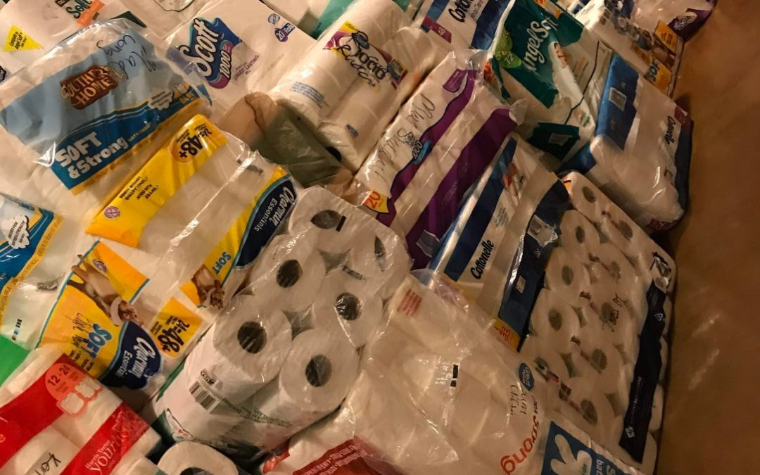 A year of paper products DONATED!! Mountain Island Charter School DELIVERS