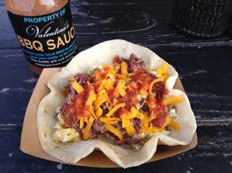 Potato, Egg, and Cheese Breakfast Burrito at Valentina's Tex Mex BBQ - Austin, Texas