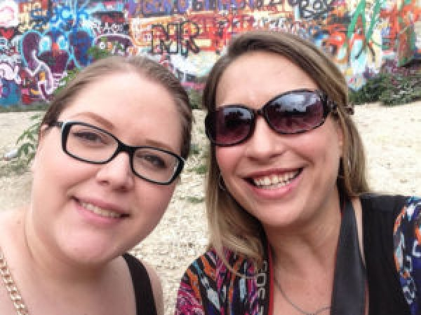 Kylee and I at Hope Outdoor Gallery
