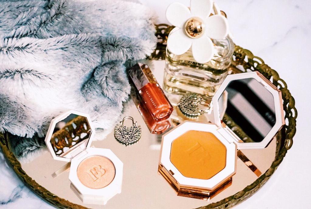 Celebrity Makeup Lines | Fenty Beauty Gloss Bomb, Killawatt Highlighter, and Sunstalk'r Bronzer