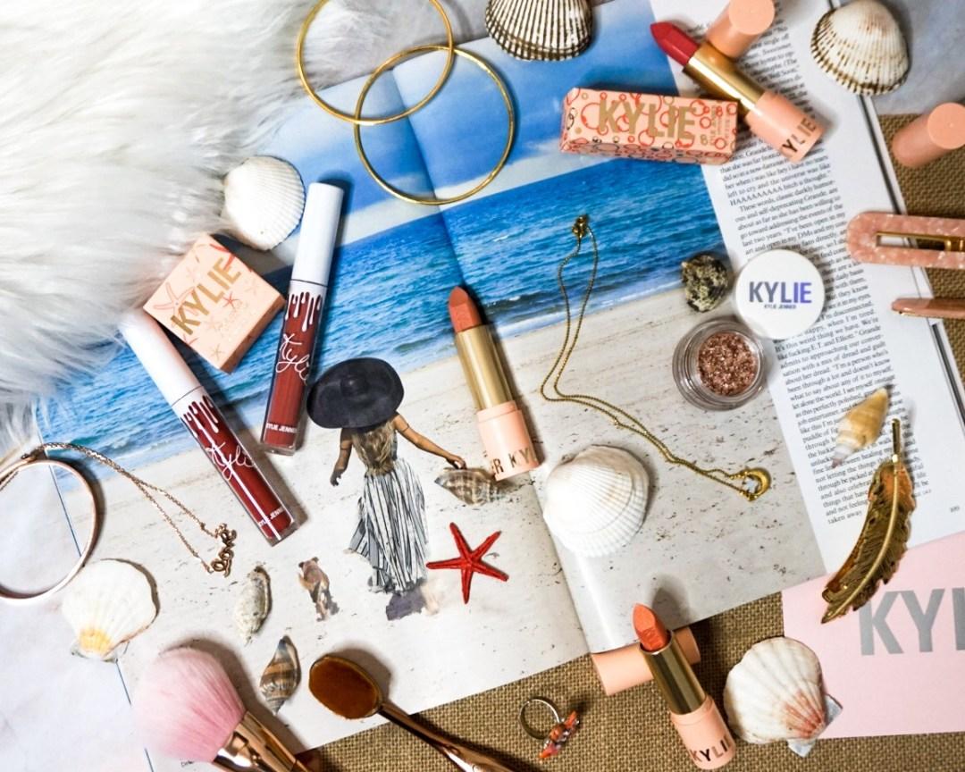 Kylie Cosmetics Summer Collection 2019 - Under the Sea   Lip Blush Liquid Lipsticks   Kylie Cosmetics Matte Lipsticks   Kylie Cosmetics Eye Glaze