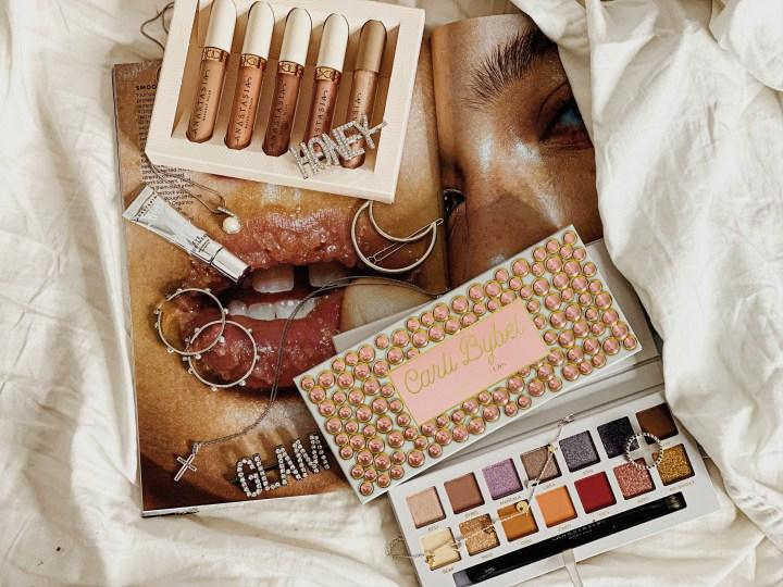 Anastasia Beverly Hills Undressed Lip Set, Mini Eyeshadow Primer, and Carli Bybel Palette