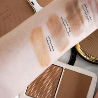 KKW Beauty Creme Contour Stick (Light 1) Swatch Comparisons versus the Charlotte Tilbury Hollywood Contour Wand, and Milk Makeup Matte Radiance Bronzer