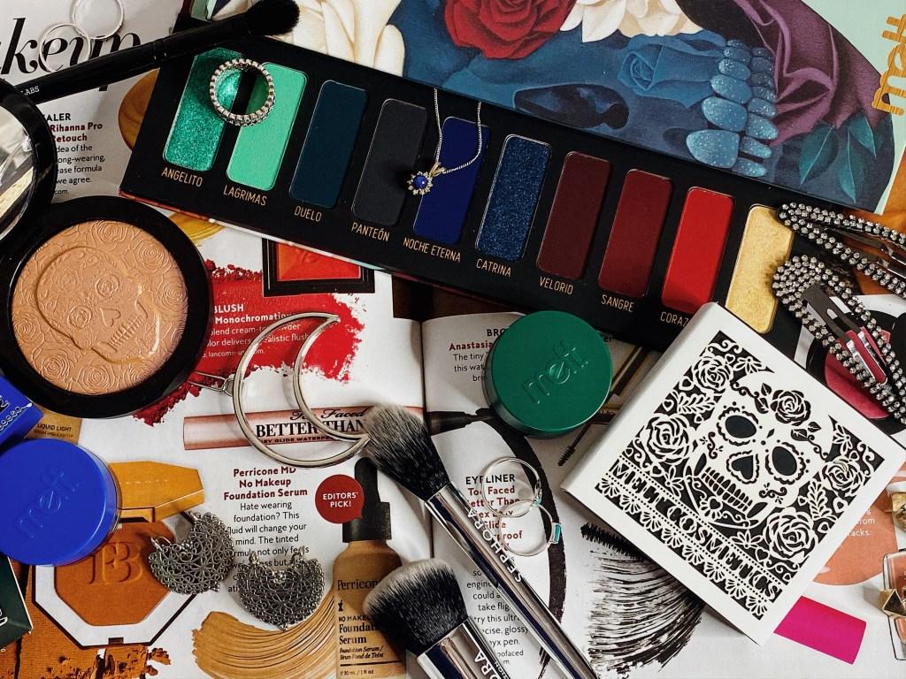 Melt Cosmetics Amor Eterno Muerte Palette, Illuminacion Highlighter, Fortuna Gel Liner, Santos Gel Liner