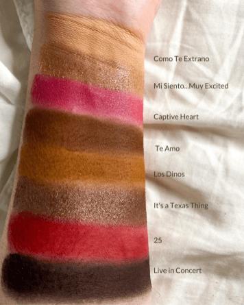 MAC Cosmetics x Selena La Reina Me Siento Muy Palette Swatches