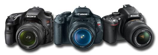 Sony A65 vs Canon T3i 600D vs Nikon D5100 mid range entry level DSLR comparison