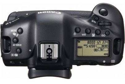 Canon 1D X Top View
