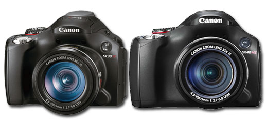 canon SX40 HS vs Canon SX30 IS