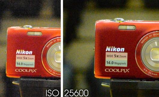 Nikon D4 at ISO 25600
