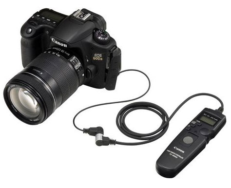 canon 60d a with Canon's RA-E3 Remote Controller Adapter