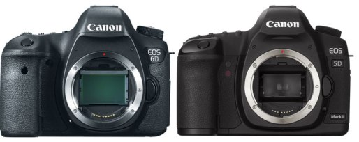 Canon 6D vs 5D Mark II Front