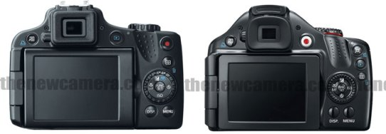 Canon SX50 hs vs 40 HS Back
