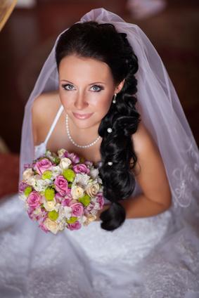 Beautiful bride in wedding day In bridal dress. newlywed woman