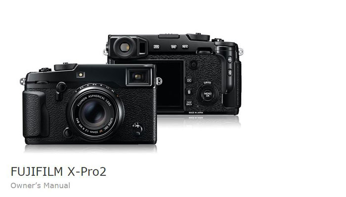 fuji x pro2 camera user manual guide pdf download new camera rh thenewcamera com Fuji Camera ManualsOnline Fujifilm Digital Camera Instruction Manual