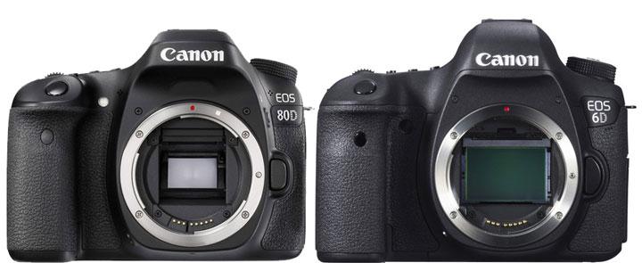 Canon 80D vs Canon 6D image