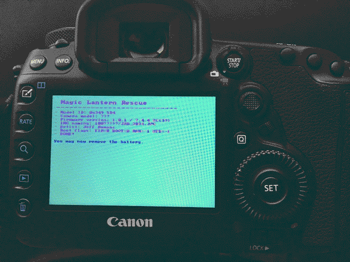 Canon 5D Mark IV hacked image