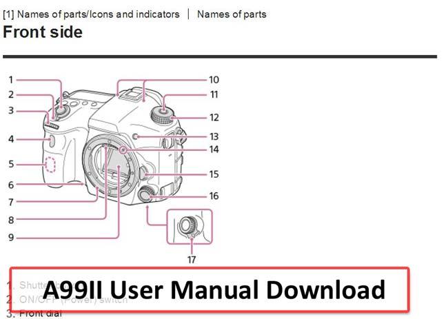 download sony a99ii camera user manual pdf new camera rh thenewcamera com Sony Camera Manuals Philips Manuals