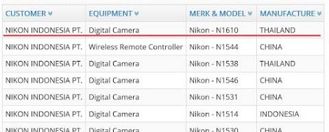 Nikon upcoming camera details image