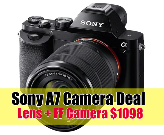 Sony A7 camera deal image