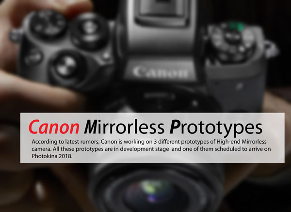 Canon Mirrorless Prototypes