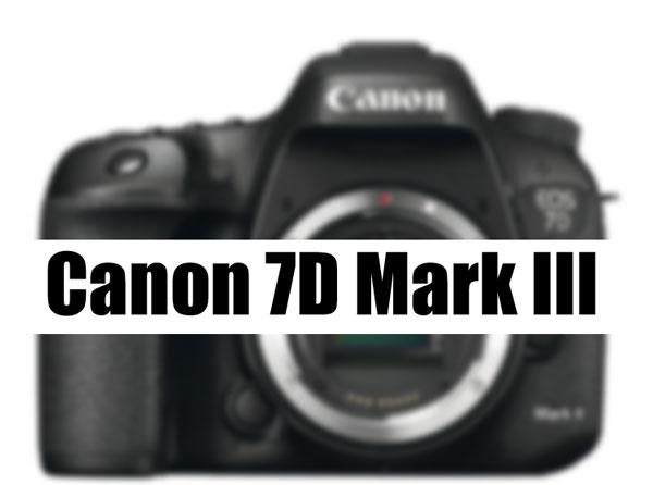 Canon 7D Mark III camera