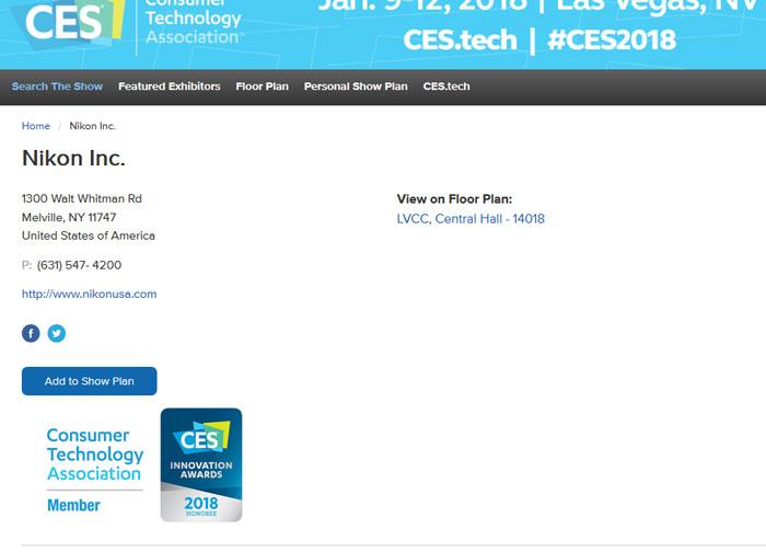 Nikon at CES show image
