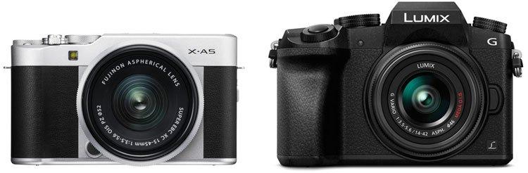 Fuji X-A5 vs Panasonic G7 image