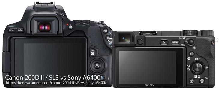 Canon 200D II / SL3 vs Sony A6400