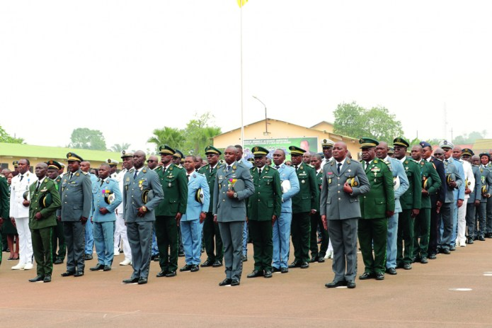 Defence and Security: Promoted Officers Awarded Epaulets