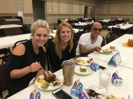 Music teachers and Mitch get an early start on dinner.