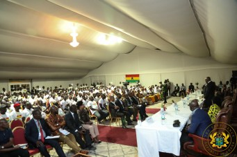 President Akufo-Addo addressing the meeting