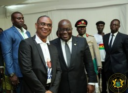President Akufo-Addo with the leader of the Ghanaian community in Mauritania