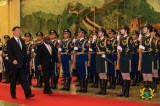 President Akufo-Addo with President Xi Jinping inspecting the Guard of Honour