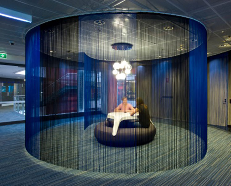 Is it a disco or a workspace? Google's Aussie HQ in Sydney. Source: Supplied.