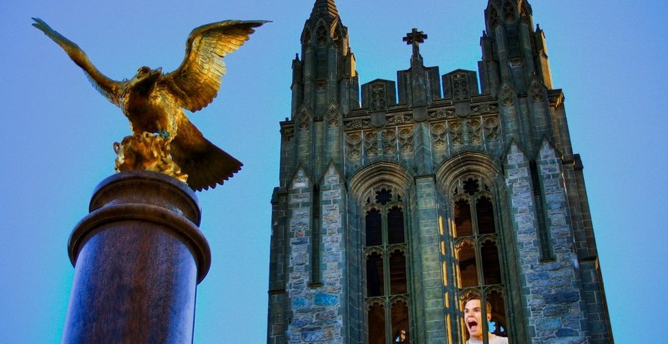 "Confused Freshman Shouts ""Communication"" From Gasson Tower, Declares Major"