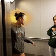 "Candidate For Sainthood? Student Asks ""What Floor?"" In Elevator"