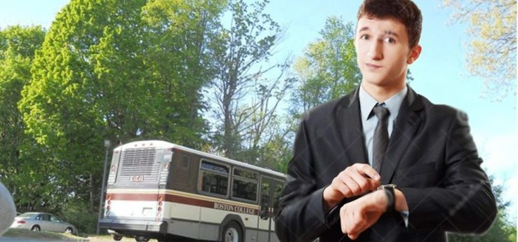 RUDE: Bus Driver Takes Three-Minute Break Knowing Full Well This Guy's Class Started 20 Minutes Ago