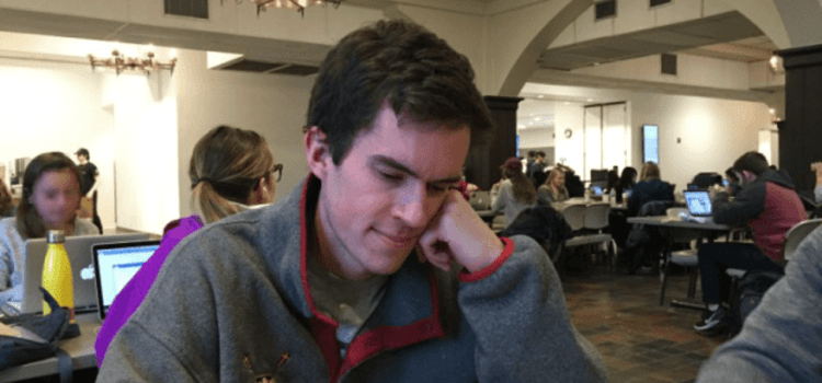 Sophomore Guy's Masculinity Hanging On By Thread Of Embroidered Club Sports Patagonia