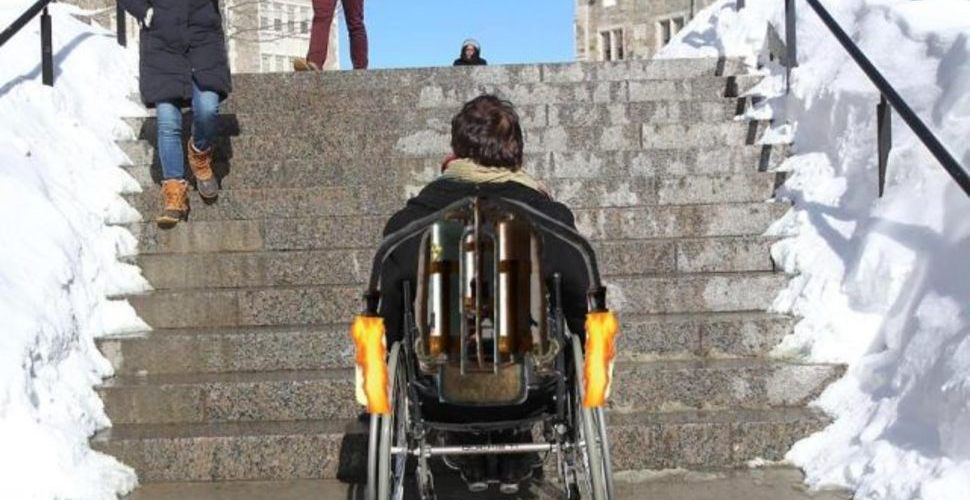 Boston College Administrators Apparently Under Impression That Wheelchairs Have Jetpacks