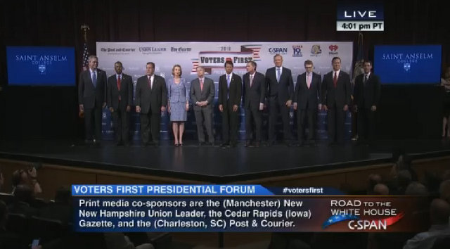"""St. Anselm College Played Host To The 2016 Republican Candidates """"Voters First Forum"""""""