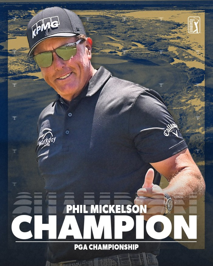 Phil Mickelson, 50, Becomes Oldest Major Winner in History with PGA Championship Victory